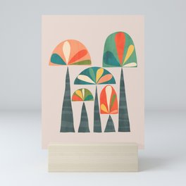 Quirky retro palm trees Mini Art Print