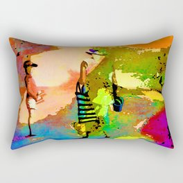 jardin multicolore Rectangular Pillow