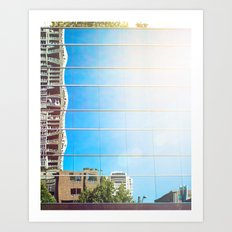 on reflection: bright. Art Print