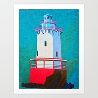 lighthouse Art Prints featuring Lighthouse by Judy Palkimas