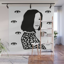 Elle vous regarde (she looks at you) Wall Mural