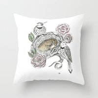 guardians Throw Pillows featuring Guardians by KC Gillies