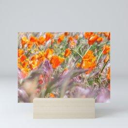 Poppies Field 3 Mini Art Print