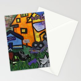 Car Crash Stationery Cards