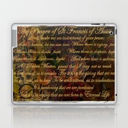 The Prayer of St Francis of Assisi Laptop & iPad Skin