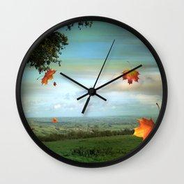 Windy Day Blagdon. Wall Clock