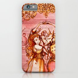 Much Ado About Nothing - Masquerade - Shakespeare Folio Illustration iPhone Case