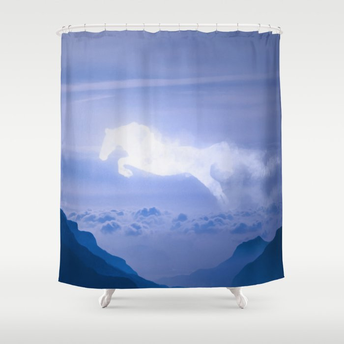 Horse Cloud Shower Curtain By Mtforlife66