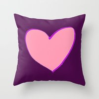 in the flesh Throw Pillows featuring Flesh & Claret by TheseRmyDesigns