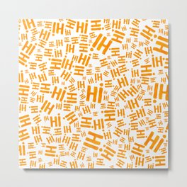 Hi! In orange tones #eclecticart Metal Print