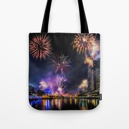 New Year Fireworks Tote Bag