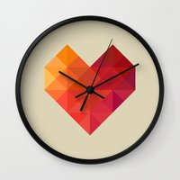 xbox Wall Clocks featuring Heart by Dizzy Moments