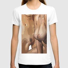 Two Nude Women Half Tone T-shirt