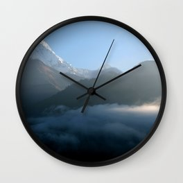 Mountains at Sunrise Poon Hill Wall Clock