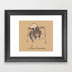 Varanus Commodeensis Framed Art Print