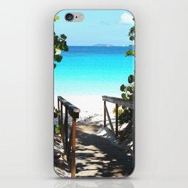 Trunk Bay walkway to beach, St. John iPhone Skin