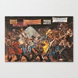 Classical 1970's African American Masterpeace - Ernie Barnes The Sugar Shack Print - Home DecorWall ArtPicture Canvas Print