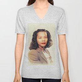 Coretta Scott King, Civil Rights Unisex V-Neck