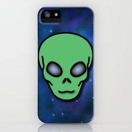Alien in Space iPhone Case