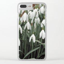 Snowdrop Galanthus design Clear iPhone Case