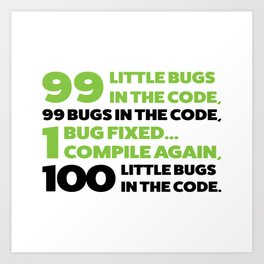 Little bugs in the code Art Print