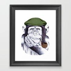 Wise Mr. Chimp Framed Art Print