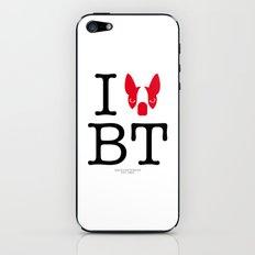 I ♥ BOSTON TERRIER iPhone & iPod Skin