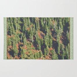 AUTUMN BLUEBERRIES IN OPEN ALPINE FOREST NORTH CASCADE RANGE Rug