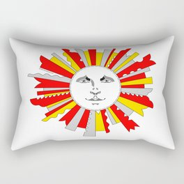 Space Sun Rectangular Pillow