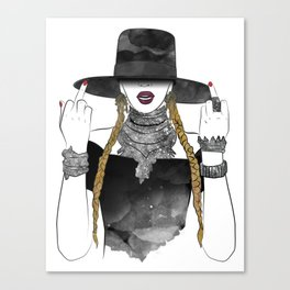 Creole Queen Bey Canvas Print