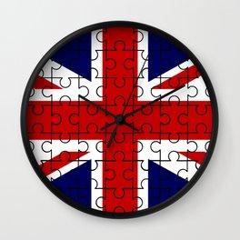 Union Jack Flag Jigsaw Wall Clock