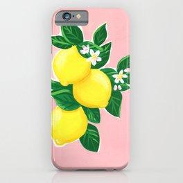 Lemons on Pink iPhone Case