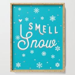 I Smell Snow Serving Tray