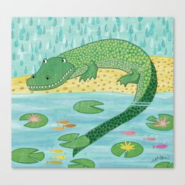 Sneaky Alligator Canvas Print