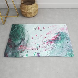 Raspberry Ocean Ink Fluid Rug