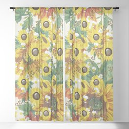 Sunflower Bliss Sheer Curtain