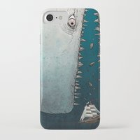 moby dick iPhone & iPod Cases featuring Moby Dick by Jamie Leonard