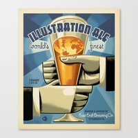 ale giorgini Canvas Prints featuring ILLUSTRATION ALE by Mark Bender