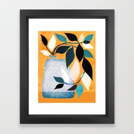 Ivy In The Courtyard Framed Art Print