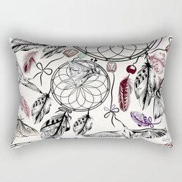 Bohemian print design with hand drawn dreamcatchers Rectangular Pillow