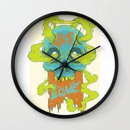 Rage Love Skull Wall Clock