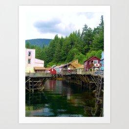 Fishing Village in Alaska Art Print