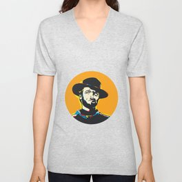Clint Eastwood Pop Art Portrait Unisex V-Neck