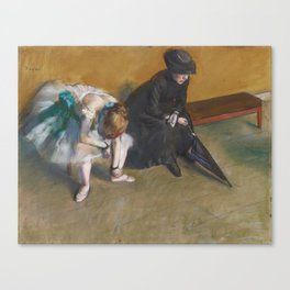 Waiting by Edgar Degas Canvas Print