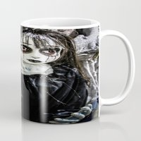 goth Mugs featuring Goth Girl by Nevermind the Camera