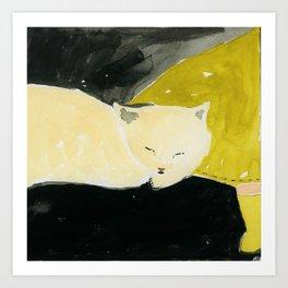 Catnap Art Print