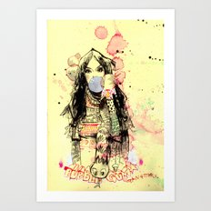 Bubble Gum Bandits Art Print
