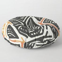 African Tribal Pattern No. 138 Floor Pillow