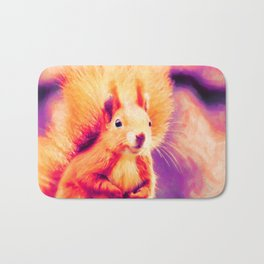 squirrel digital oil paint doplsh Bath Mat