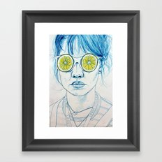 Lemon Lady Framed Art Print
